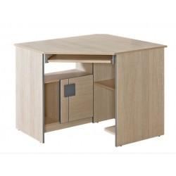 BENCE G11 sarok íróasztal, 96,5*96,5*78,1 cm - santana tölgy/szürke