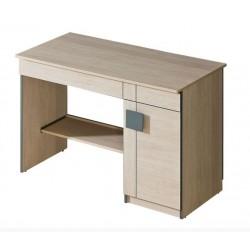 BENCE G6 íróasztal, 110*55*79 cm - santana tölgy/szürke