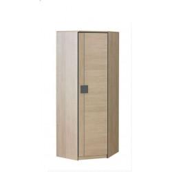 BENCE G7 sarok szekrény, 71*71*187 cm - santana tölgy/szürke