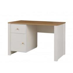 BERG R6 B120 íróasztal, 120*60*78 cm - krém/arany tölgy
