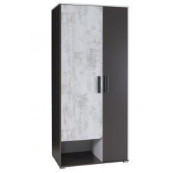 BRNO R1 akasztós+polcos szekrény, 90*58*200 cm