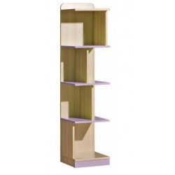 EGO L15 könyvespolc, 35*38*154,5 cm - coimbra kőris/lila