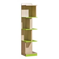 EGO L15 könyvespolc, 35*38*154,5 cm - coimbra kőris/zöld