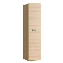 EGO L2 1 ajtós szekrény, 45*52*188 cm - coimbra kőris/zöld