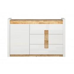 ALAMEDA KOM1D3S 1 ajtós+3 fiókos komód, 147*41*96,5 cm