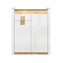 ALAMEDA KOM2D1S 2 ajtós+1 fiókos komód, 92*37*110,5 cm