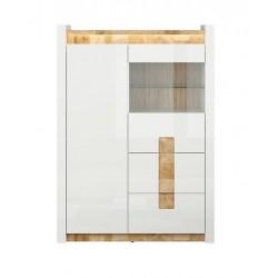 ALAMEDA REG1W1D2S alacsony vitrines szekrény, 102*41*141 cm