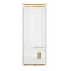 ALAMEDA REG2D2S 2 ajtós+2 fiókos szekrény, 82*37*201,5 cm