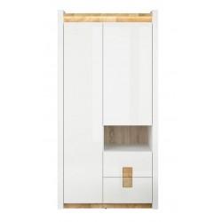 ALAMEDA SZF2D2S akasztós+polcos szekrény, 102*60*201 cm
