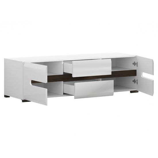 AZTECA RTV2D2S/4/15 TV szekrény, 150*47*43 cm - fehér