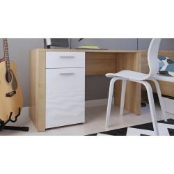 BALDER BIU/120 íróasztal, 120*56*77 cm - riviéra tölgy/fényes fehér