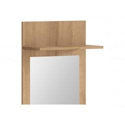 BALDER LUS/45 előszoba panel tükörrel, 45*21,5*148 cm - riviéra tölgy
