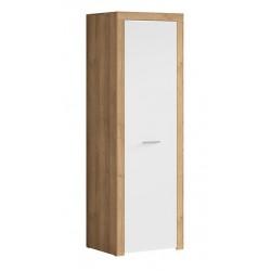 BALDER SZF1D 1 ajtós, akasztós szekrény, 62*51,5*192 cm - riviéra tölgy/fényes fekete