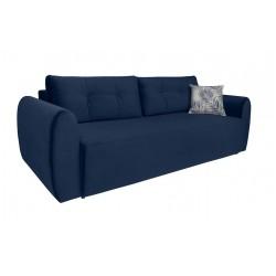 DIVALA LUX 3DL kanapé, 239*102*88 cm - Print Botanical 80 blue grey/Rain 22 blue