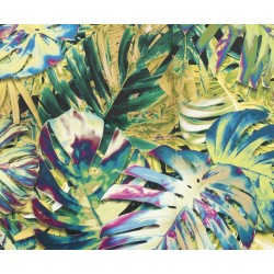 GASPAR IV Mega Lux 3DL kanapé, 255*126*89 cm - Print Jungle multicolor/Kronos 11 yellow/Monoli 79 navy