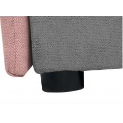 KELO LBKMU heverő, 204*95*80 cm - Soro 61 Pink/Soro 90 Grey