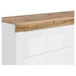 HOLTEN BIU1S fésülködőasztal, 106,2*40*81,5 cm - wotan tölgy/fehér