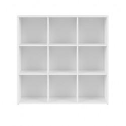 NEPO PLUS REG/12/12 alacsony polcos szekrény, 114*38,5*111 cm - fehér