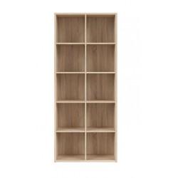 NEPO PLUS REG/19/8 nyitott polcos szekrény, 77*38,5*182 cm - sonoma