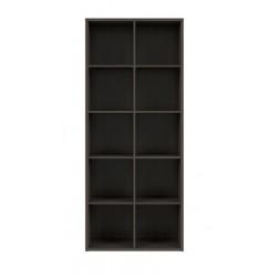 NEPO PLUS REG/19/8 nyitott polcos szekrény, 77*38,5*182 cm - wenge
