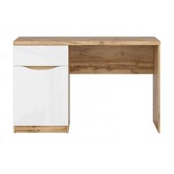 NUIS BIU1D1S íróasztal, 120*60*75,5 cm - wotan tölgy/fényes fehér ÚJDONSÁG!