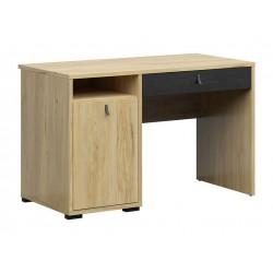 RODES BIU1D1S íróasztal, 120*59*75,5 cm - Belarusz kőris/fekete tölgy