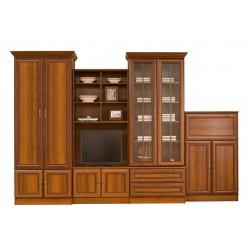 WIKI D szekrénysor, 324*56,5*214 cm - sötét dió
