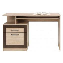 BOSS BS11 íróasztal, 120*54,5*76,5 cm - sonoma tölgy/csokoládé tölgy