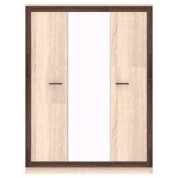 BOSS BS22 3 ajtós tükrös gardróbszekrény, 149,8*52*197,8 cm