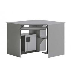 BENCE G11 sarok íróasztal, 96,5*96,5*78,1 cm - antracit/fehér