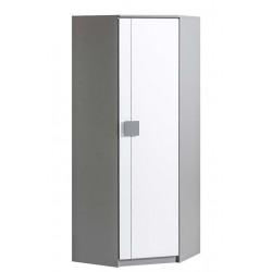 BENCE G7 sarok szekrény, 71*71*187 cm - antracit/fehér