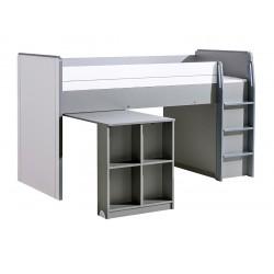 BENCE G15 galériás ágy, 104*208*131 cm - antracit/fehér