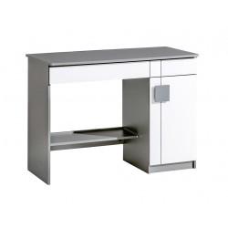 BENCE G6 íróasztal, 110*55*79 cm - antracit/fehér
