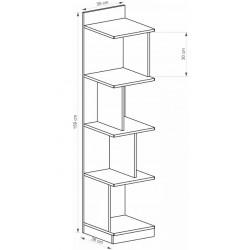 BENCE G8 nyitott polcos szekrény, 35*38*159 cm - antracit