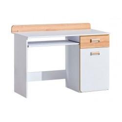 EGO L10 íróasztal, 120*55*87 cm - fehér/nash tölgy