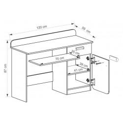 EGO L10 íróasztal, 120*55*87 cm - zöld