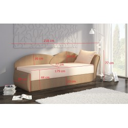 AGA 01 kanapé, 218*80*77 cm - jobbos Alova 36/Alova 10