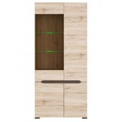 ELPASSO REG1W3D/20/9 vitrines szekrény, 90*41,5*200 cm
