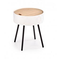 Aura lerakóasztal, 38*38*45 cm - fehér