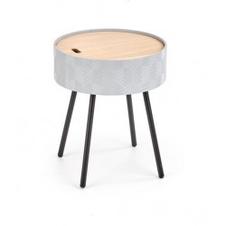 Aura lerakóasztal, 38*38*45 cm - szürke