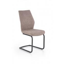 K272 fémvázas szék, 45*57*94 cm - cötét bézs
