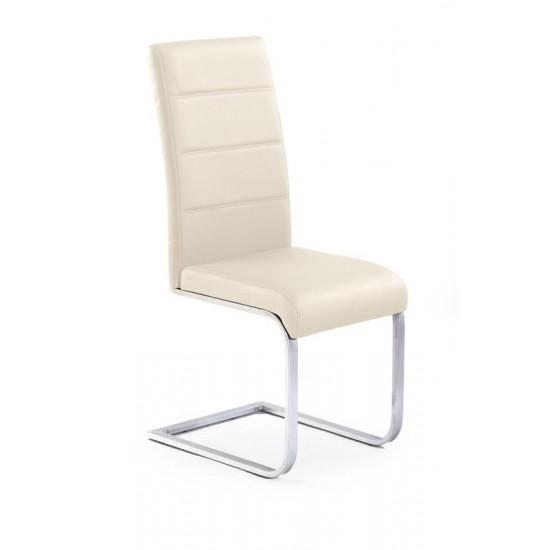 K85 fémvázas szék, 42*56*100 cm - sötétkrém