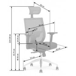 ADMIRAL főnöki forgószék, 68*60*120/130 cm