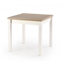Gracjan étkezőasztal, 80/160*80*76 cm - fehér/sonoma