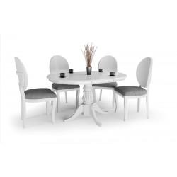 WILLIAM étkezőasztal, 90/124*90*75 cm - fehér