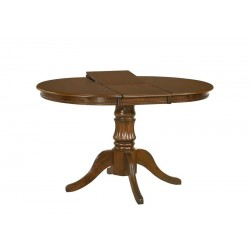 WILLIAM étkezőasztal, 90/124*90*75 cm - sötétdió