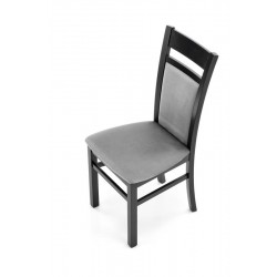GERARD 2 étkezőszék, 46*52*96 cm - fekete/Monolith 85