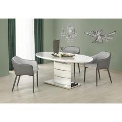 ASPEN étkezőasztal, 140/180*90*76 cm - fehér
