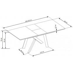 Capital étkezőasztal, 160/200*90*76 cm