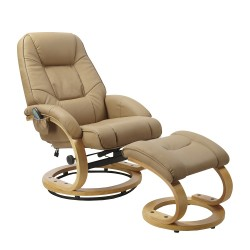 MATADOR relax fotel+lábtartó - bézs